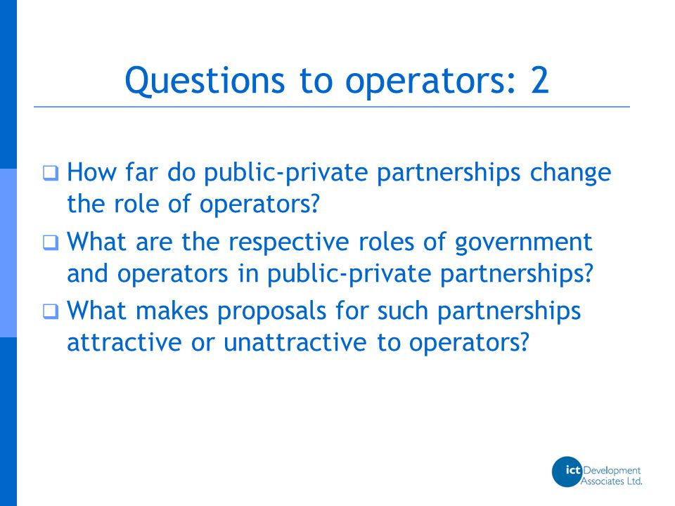  What do operators think about infrastructure sharing.