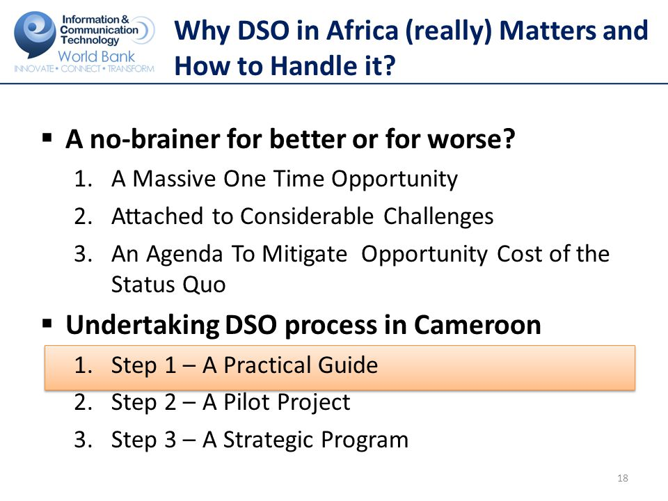 Why DSO in Africa (really) Matters and How to Handle it.