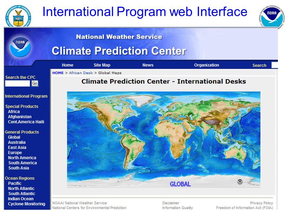 International Program web Interface