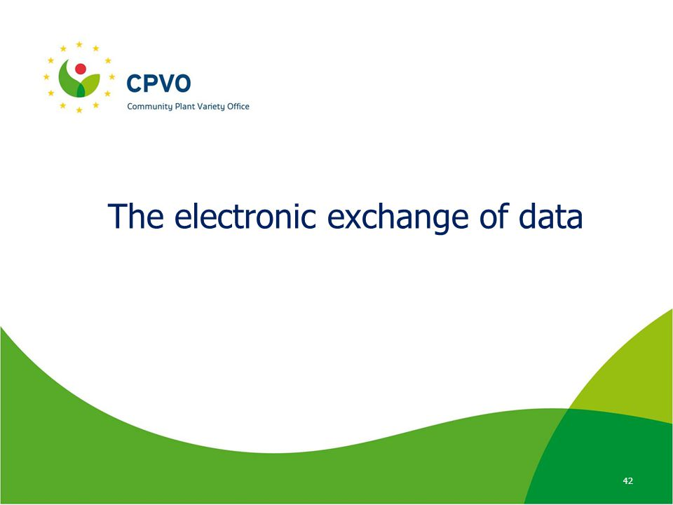 The electronic exchange of data 42