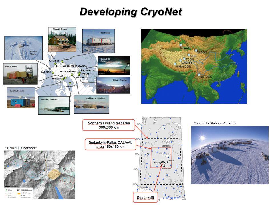 Developing CryoNet Concordia Station, Antarctic