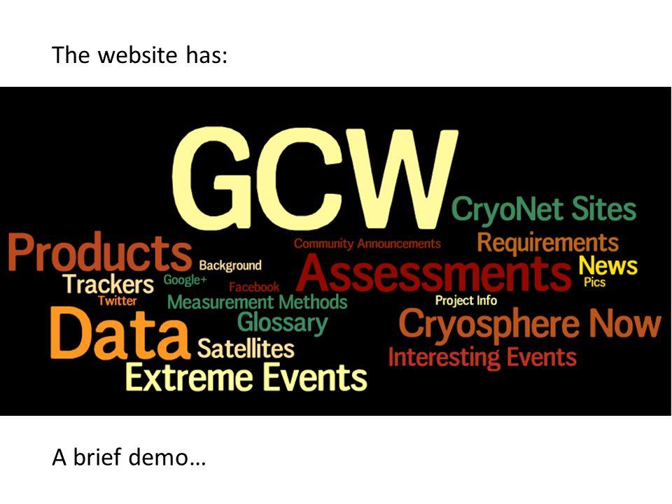 The website has: A brief demo…