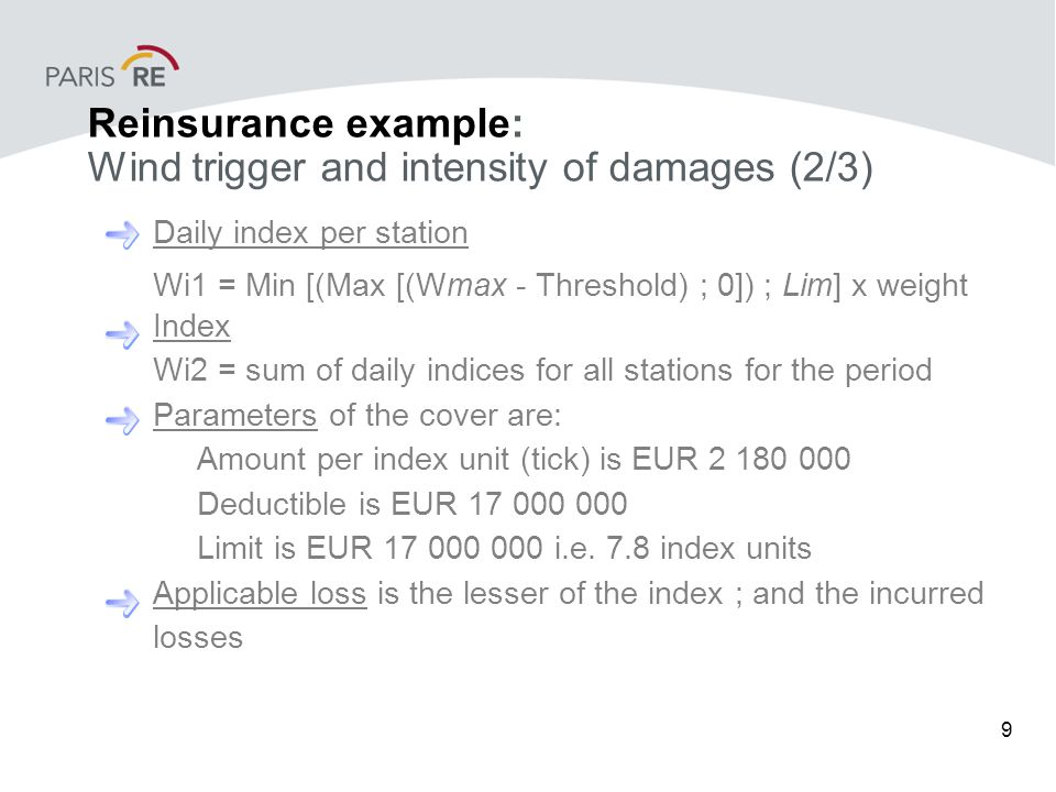 10 Reinsurance example: Wind trigger and intensity of damages (3/3)