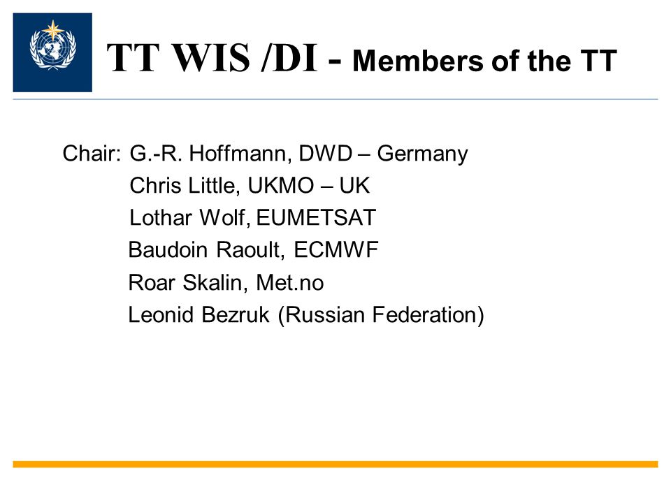 TT WIS /DI - Members of the TT Chair:G.-R.
