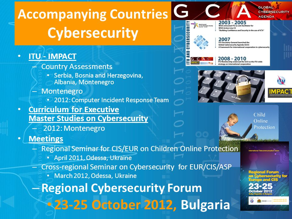 Accompanying Countries Cybersecurity ITU - IMPACT – Country Assessments Serbia, Bosnia and Herzegovina, Albania, Montenegro – Montenegro 2012: Compute