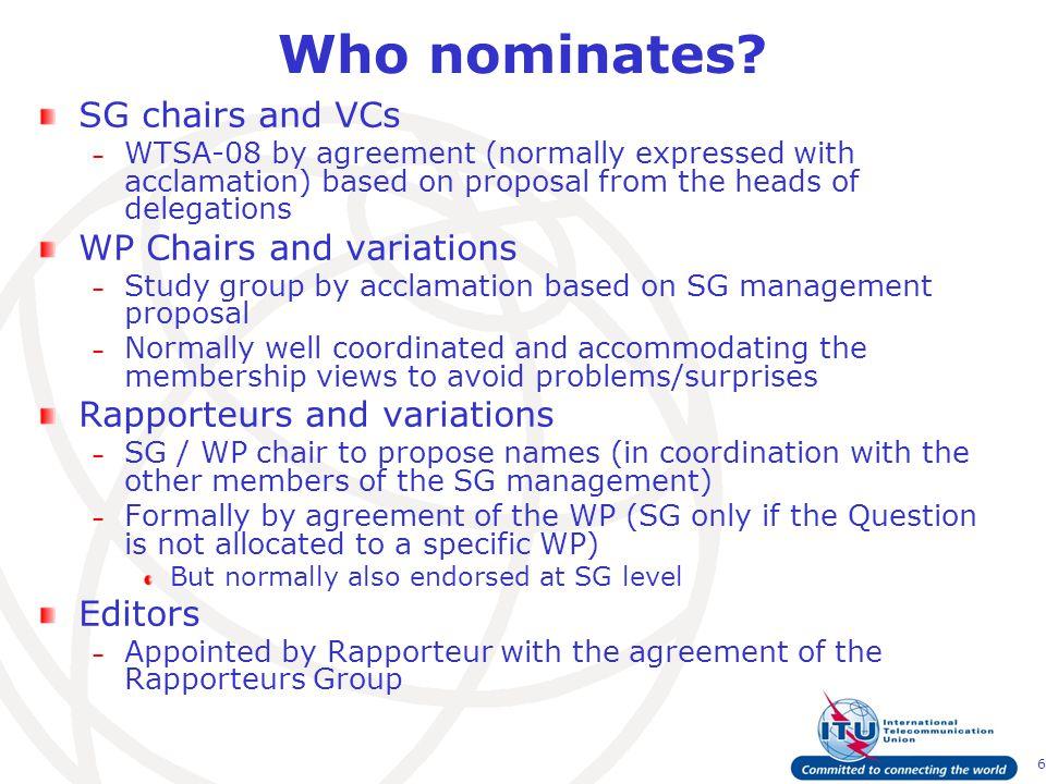 6 Who nominates.