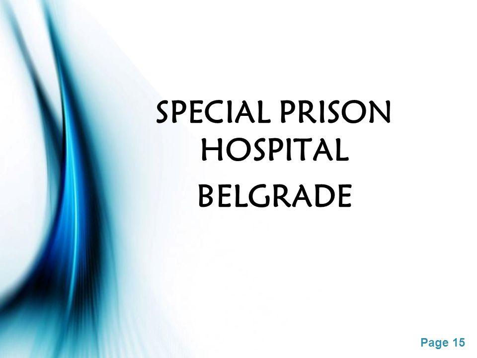 Page 15 SPECIAL PRISON HOSPITAL BELGRADE