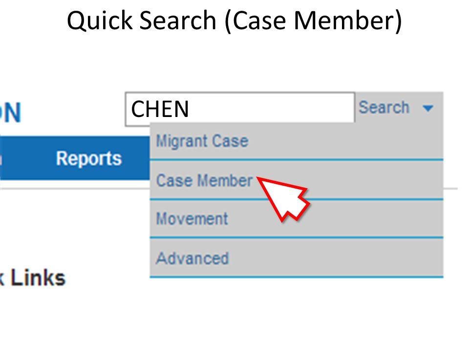 Quick Search (Case Member) CHEN