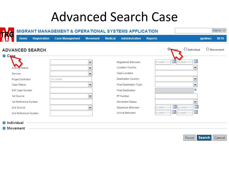 Advanced Search Case