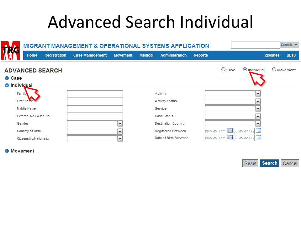 Advanced Search Individual