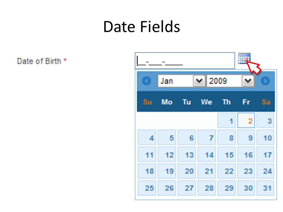 Date Fields