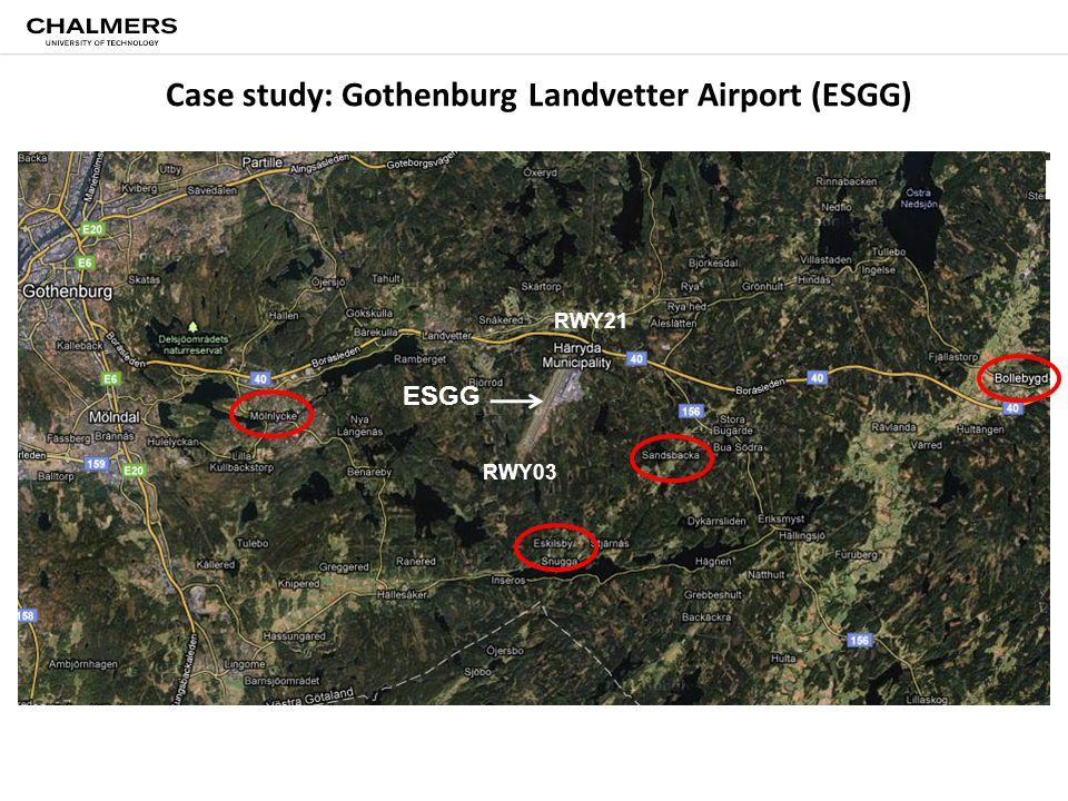 Case study: Gothenburg Landvetter Airport (ESGG) RWY03 RWY21 ESGG