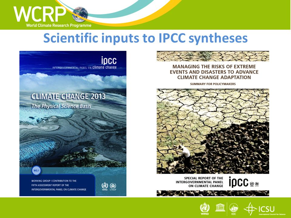 Scientific inputs to IPCC syntheses