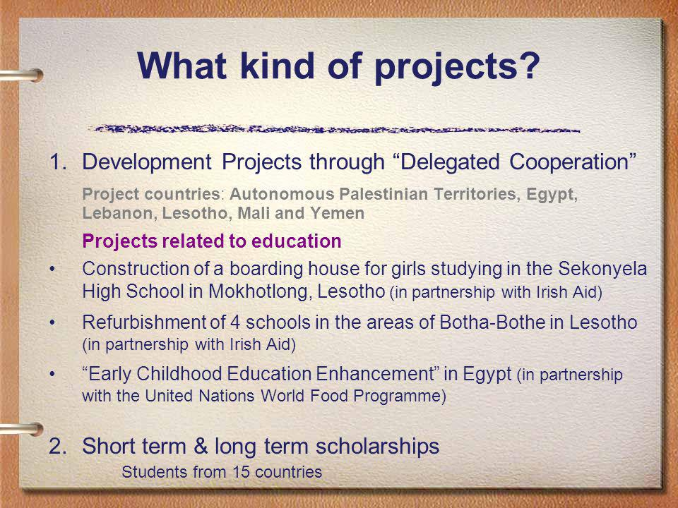 What kind of projects.