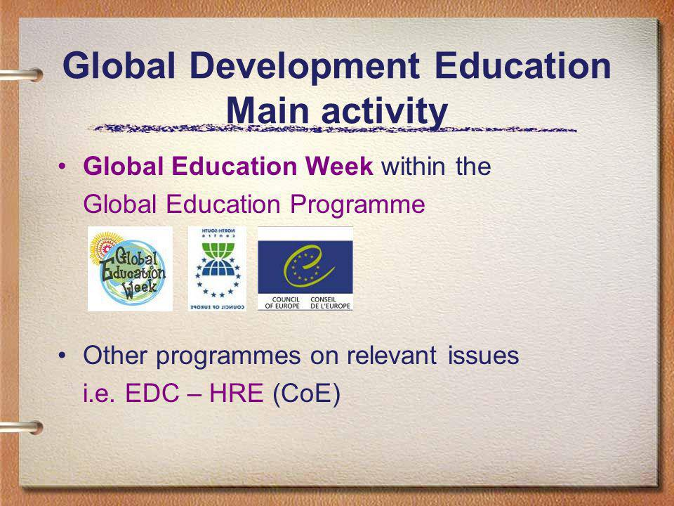 Global Education Week Who is coordinating today.