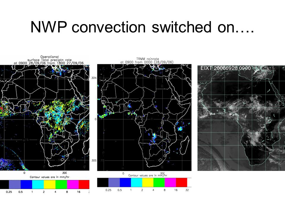 NWP convection switched on….