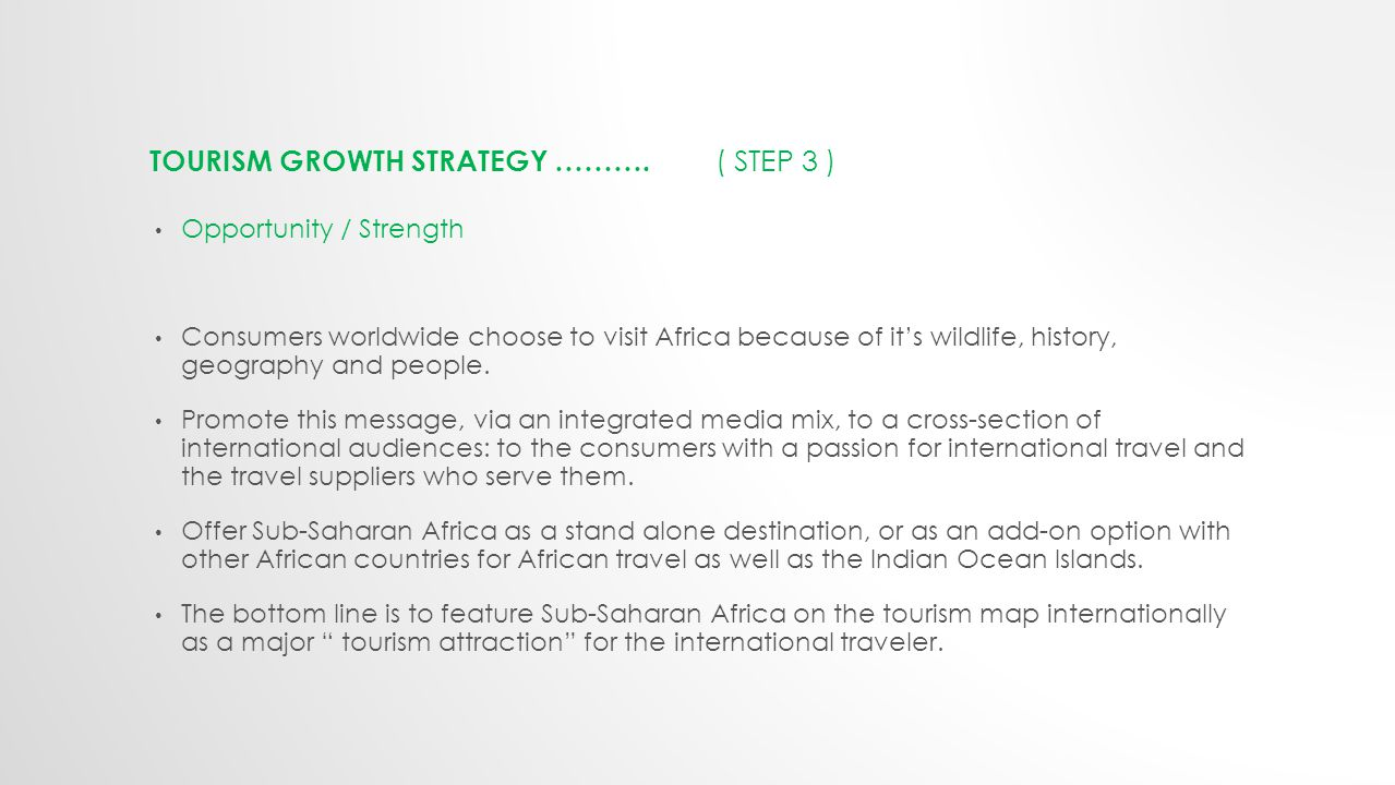 TOURISM GROWTH STRATEGY ……….