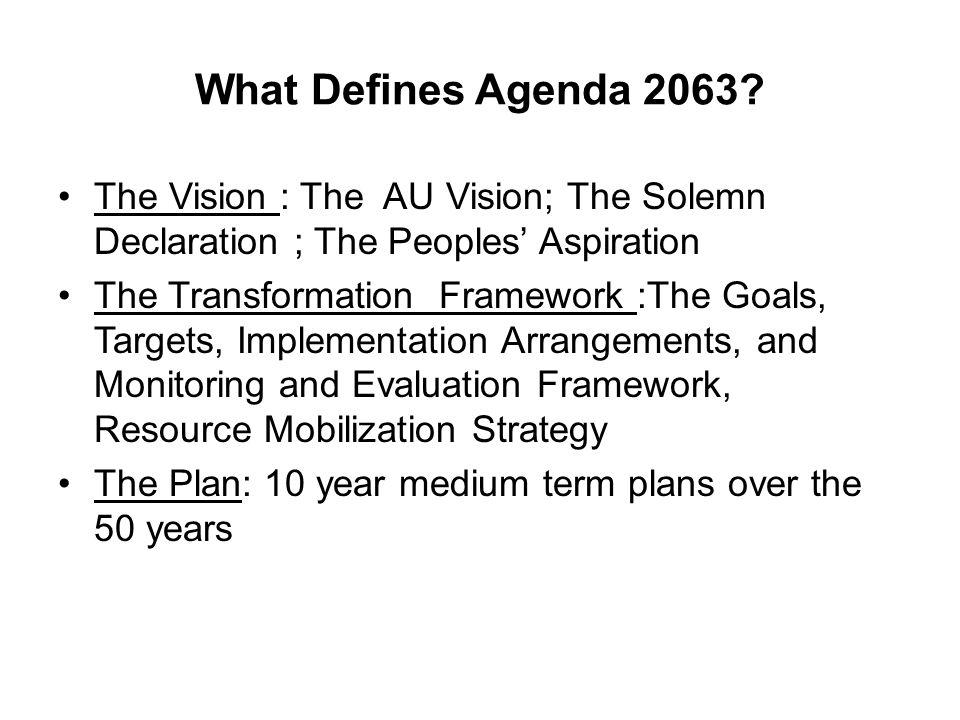 What Defines Agenda 2063.