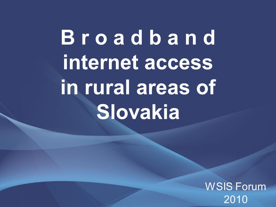 Regional division of the villages without the broadband NUTS II Number of villages which are white spots Number of inhabitants in the villages Self-admininstration region of Bratislava1016 913 The western Slovakia303204 078 The central Slovakia516281 988 The eastern Slovakia686347 390 Altogether1515850 369