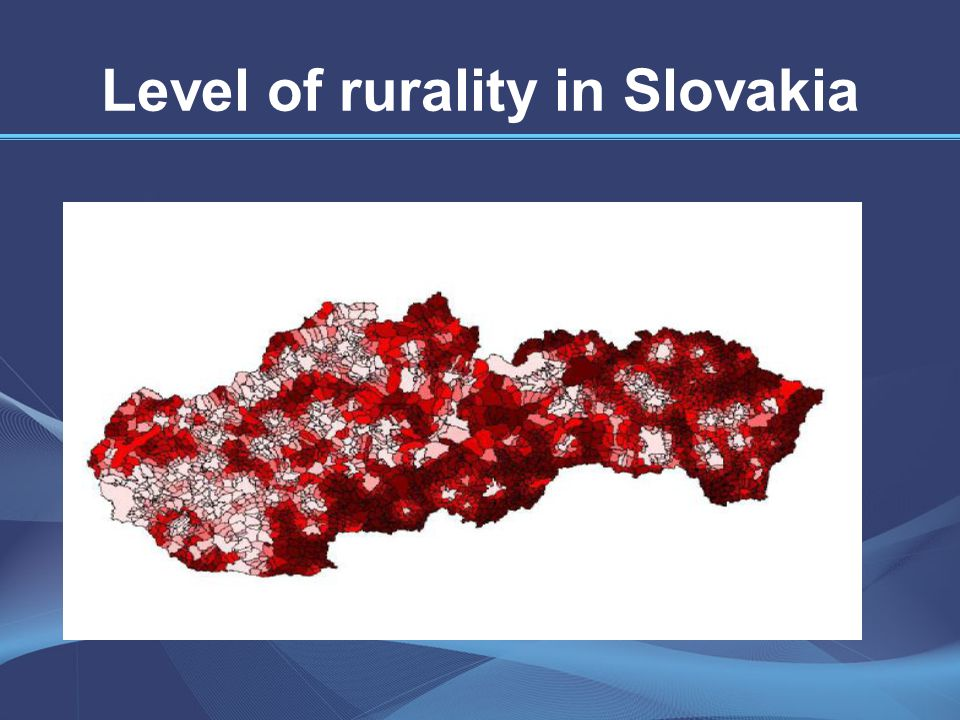 Level of rurality and unemployement rate are related Registered unemployement rate in the districts of the Slovak Republic Source: Statistical office Registered unemployement rate at district level in %