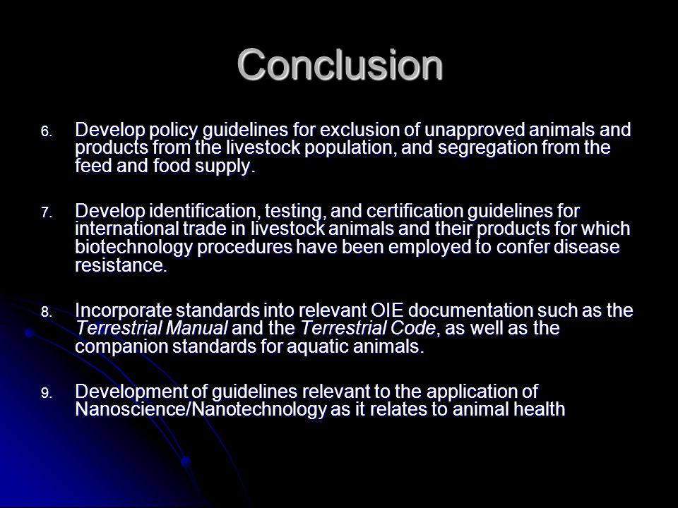 Conclusion 6.