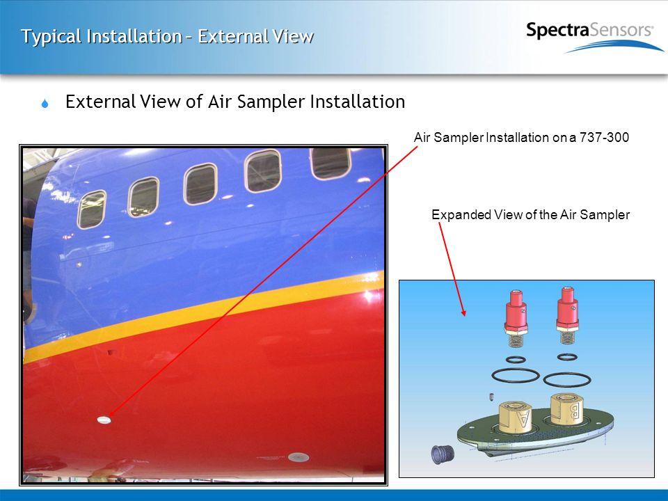 Typical Installation – External View  External View of Air Sampler Installation Expanded View of the Air Sampler Air Sampler Installation on a 737-30