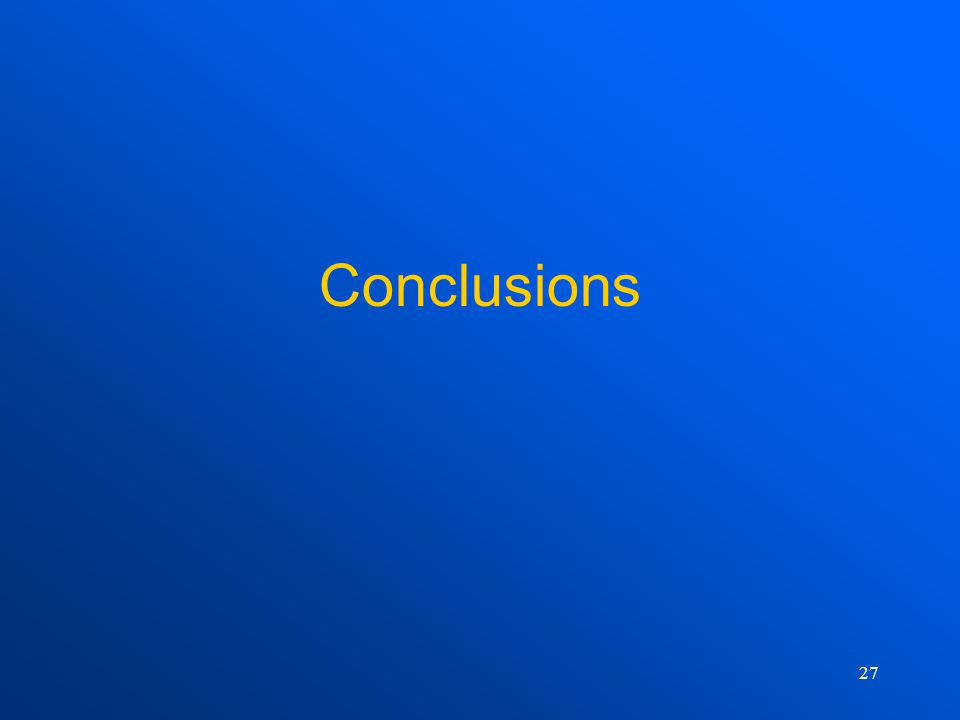 27 Conclusions