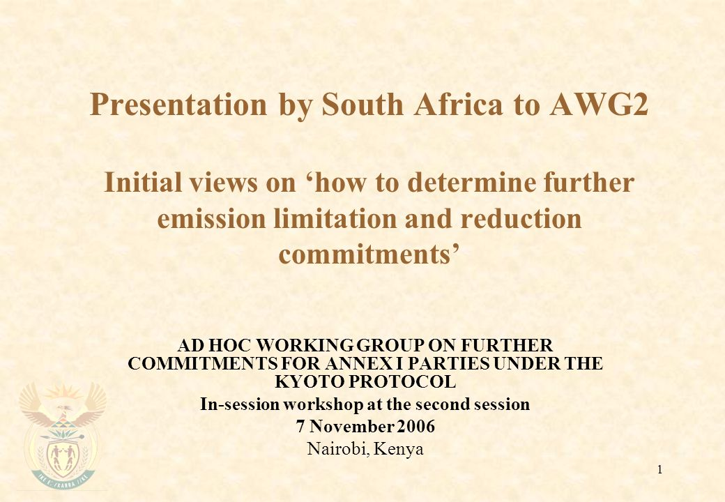 2 Scenarios for stabilisation Annex I Parties asked to provide information about scenarios for the stabilization of atmospheric concentrations of greenhouse gases and on the implications of these scenarios .
