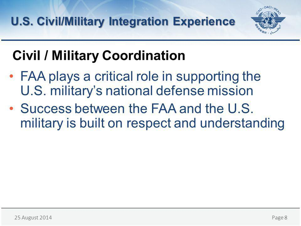25 August 2014Page 19 Japan Civil/Military Coordination Experience