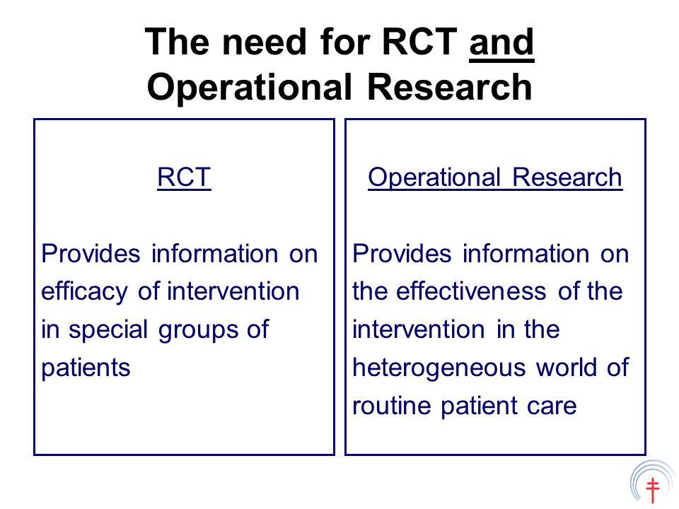 Harmonisation Should we develop an international TB operational research agenda.