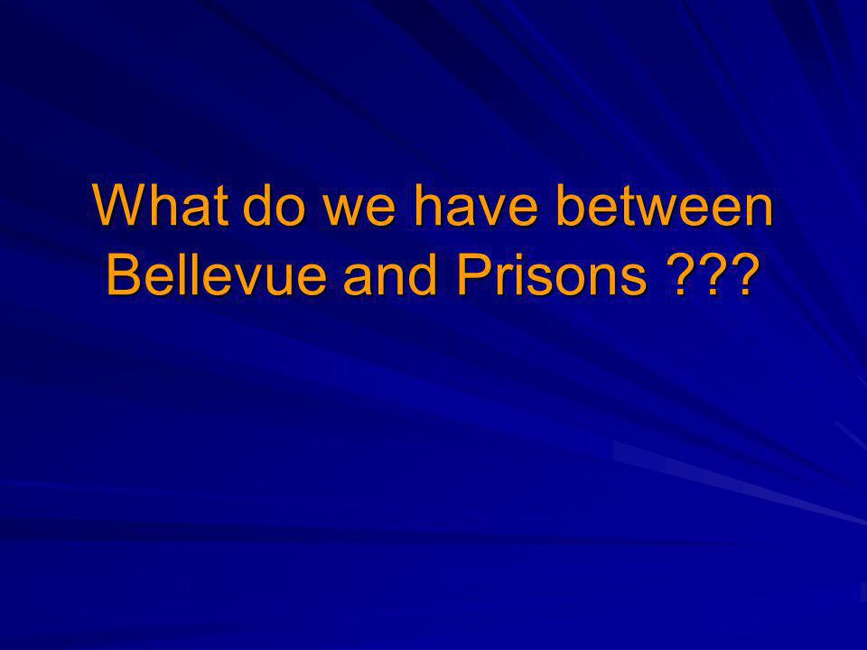 What do we have between Bellevue and Prisons