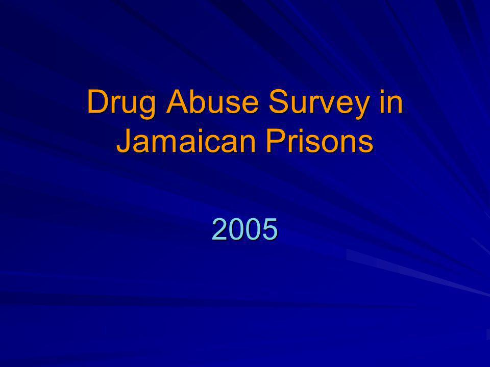 Drug Abuse Survey in Jamaican Prisons 2005