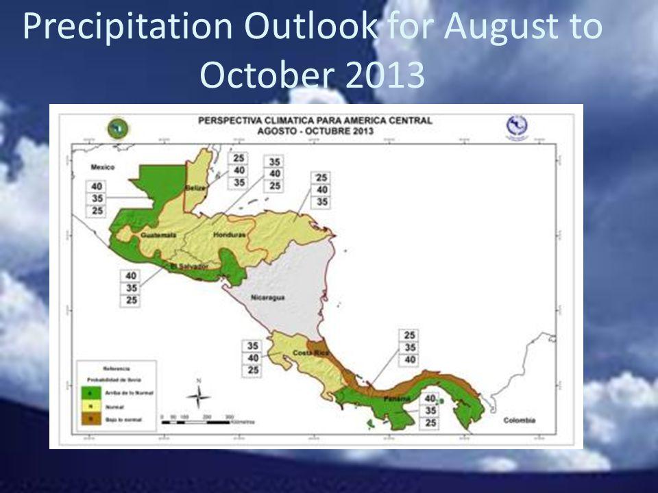 Precipitation Outlook For October-December 2013