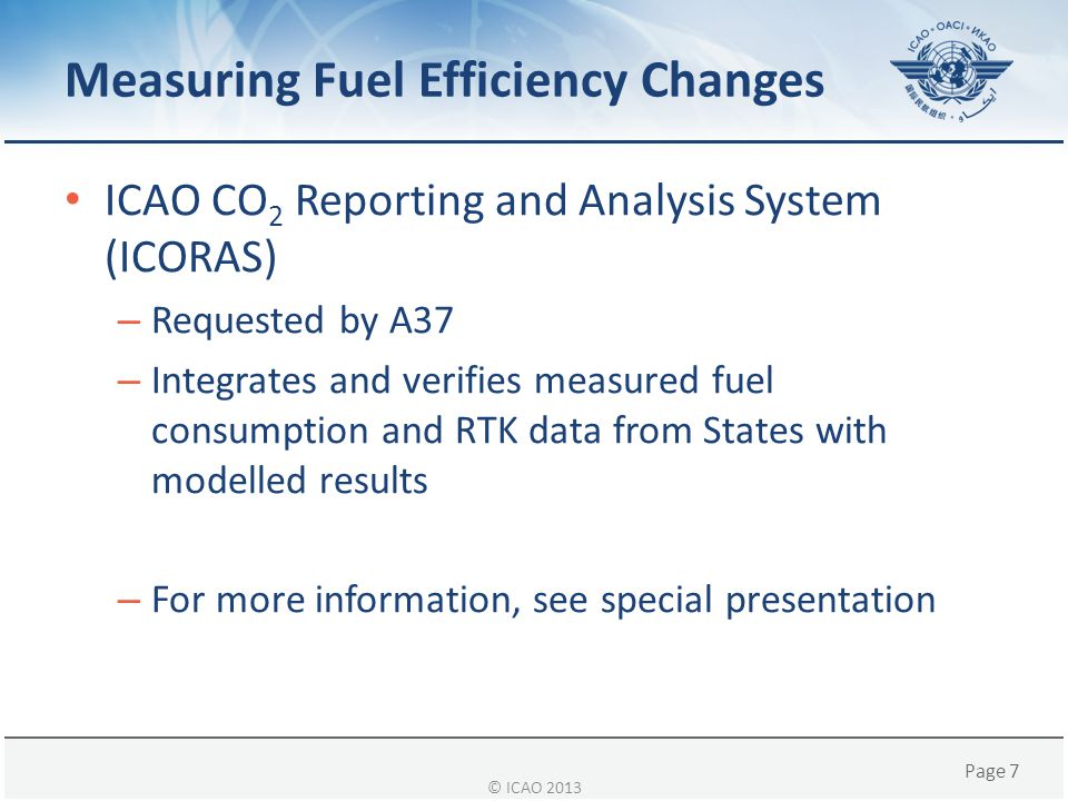 Page 8 CAEP International Aviation Net CO 2 Emissions Trends © ICAO 2013