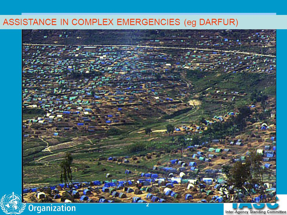 2 ASSISTANCE IN COMPLEX EMERGENCIES (eg DARFUR)