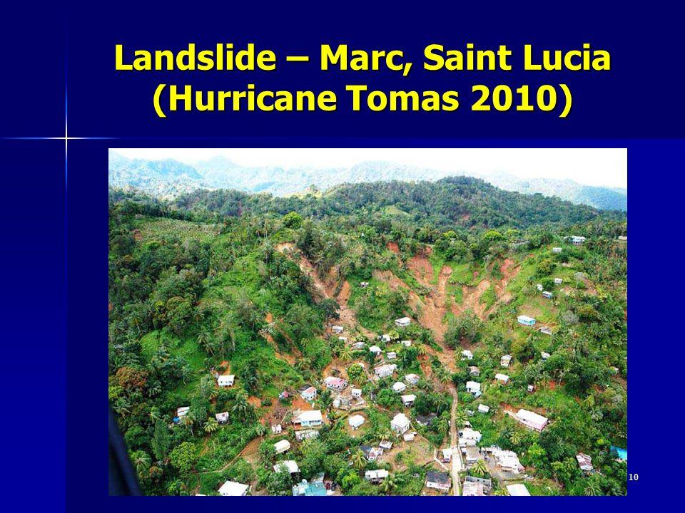 Landslide – Marc, Saint Lucia (Hurricane Tomas 2010) 10