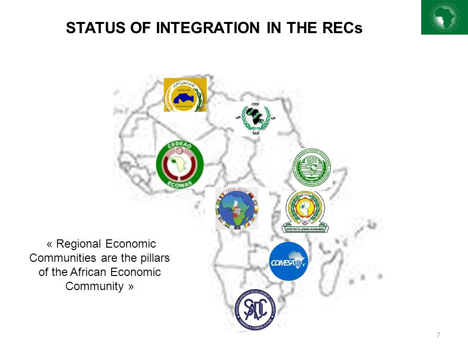 FREE MOVEMENT OF PERSONS Enormous results have been achieved in certain regions such as ECOWAS EAC and AMU; on the other hand some RECs (SADC, ECCAS, CEN-SAD, IGAD and COMESA)are still facing challenges in this regard.