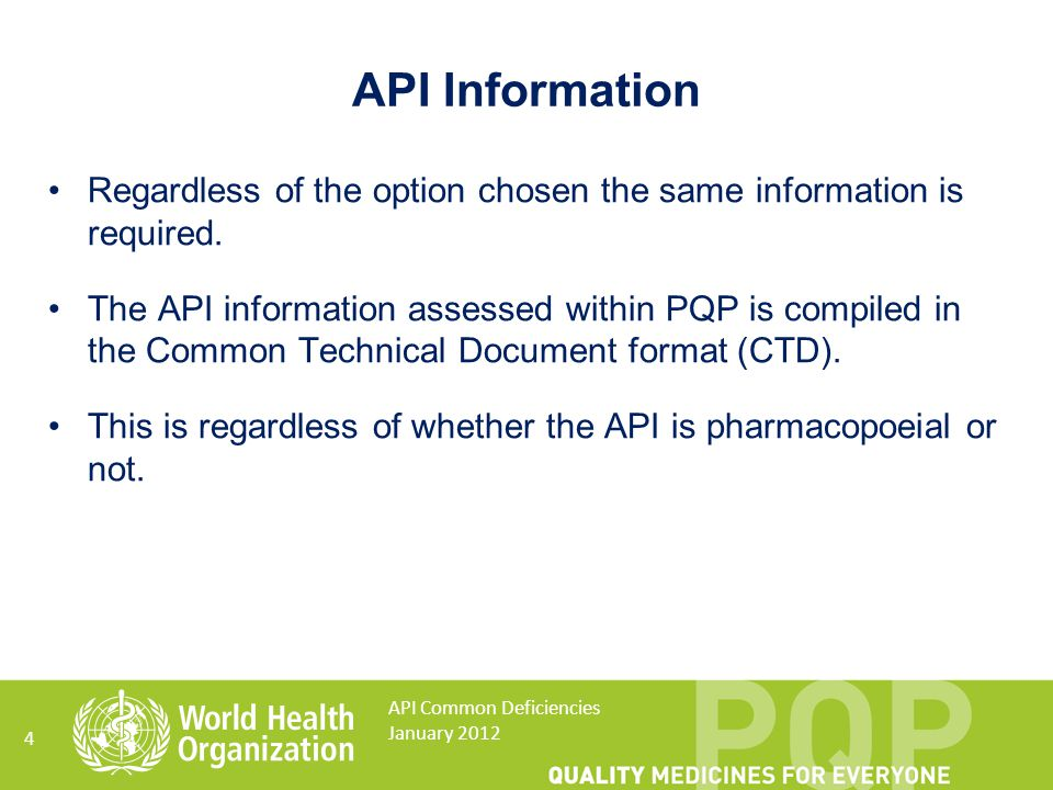 15 What are the potential impurities? API Common Deficiencies January 2012