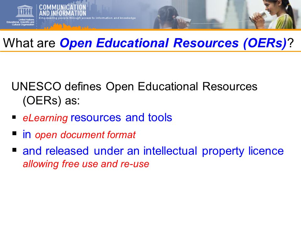 What are Open Educational Resources (OERs).