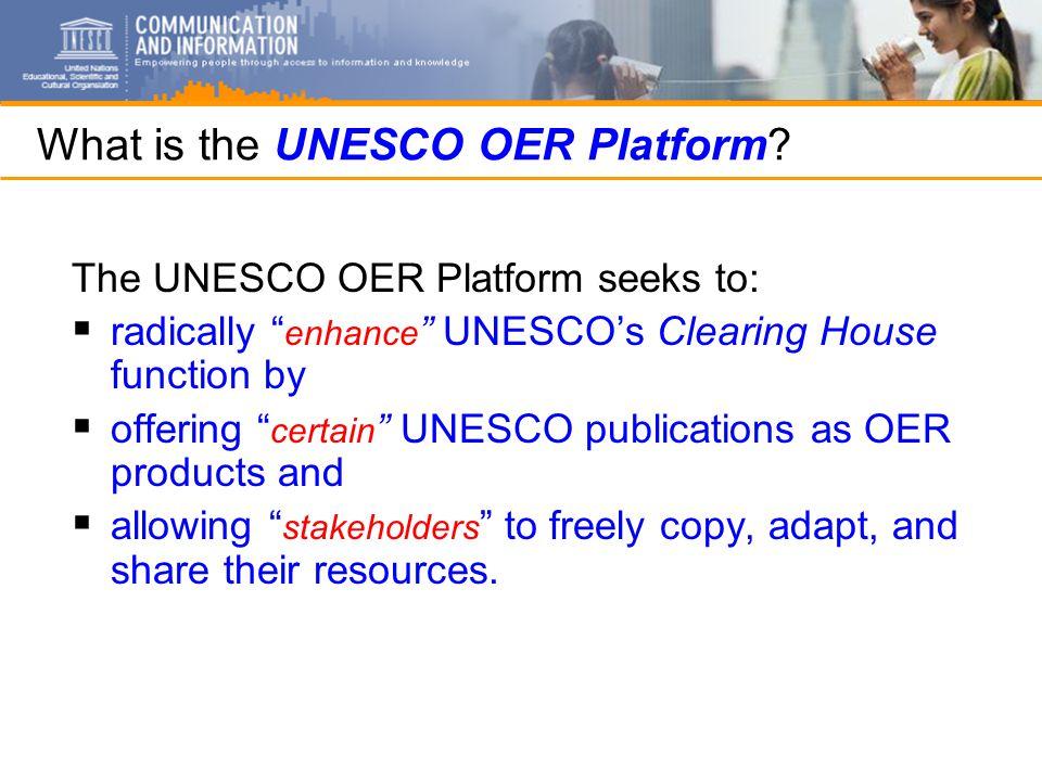 What is the UNESCO OER Platform.