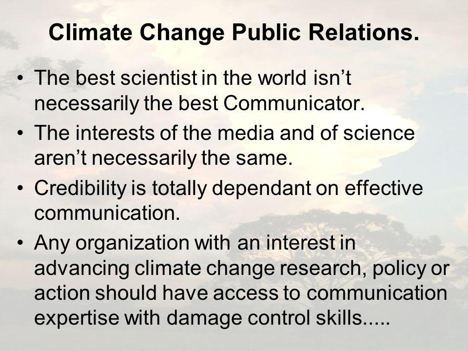 Climate Change Public Relations.