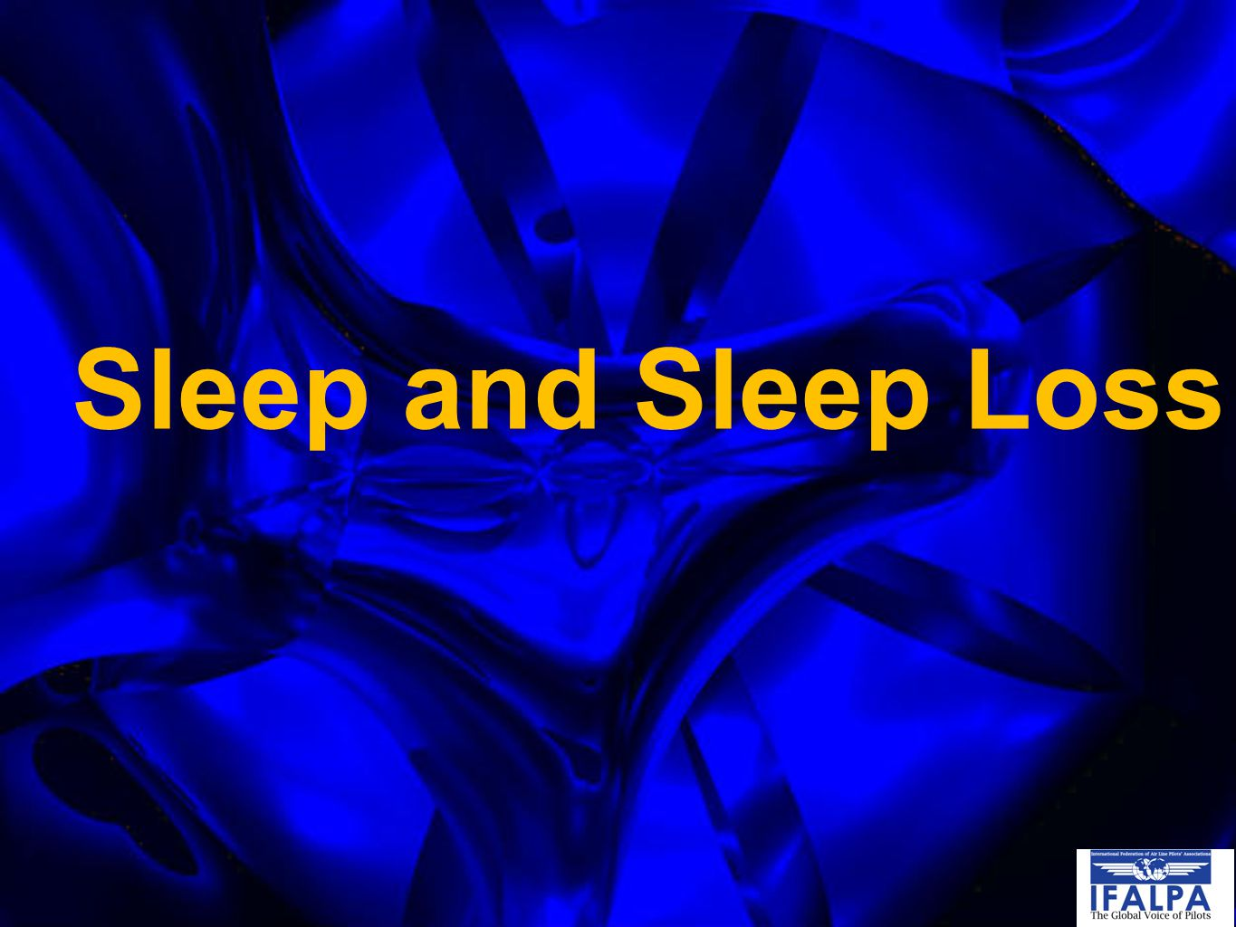 Sleep and Sleep Loss