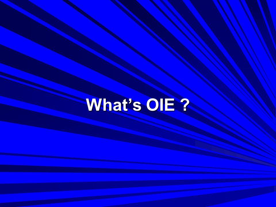 What's OIE