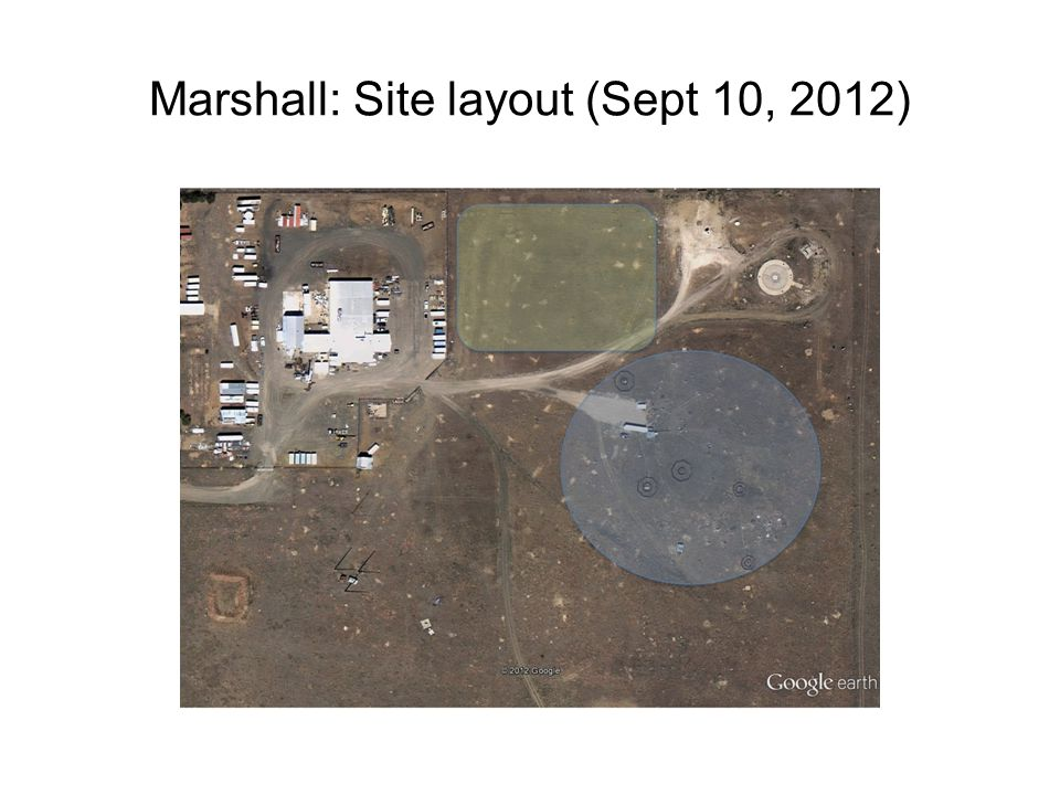Marshall: Site layout (Sept 10, 2012)