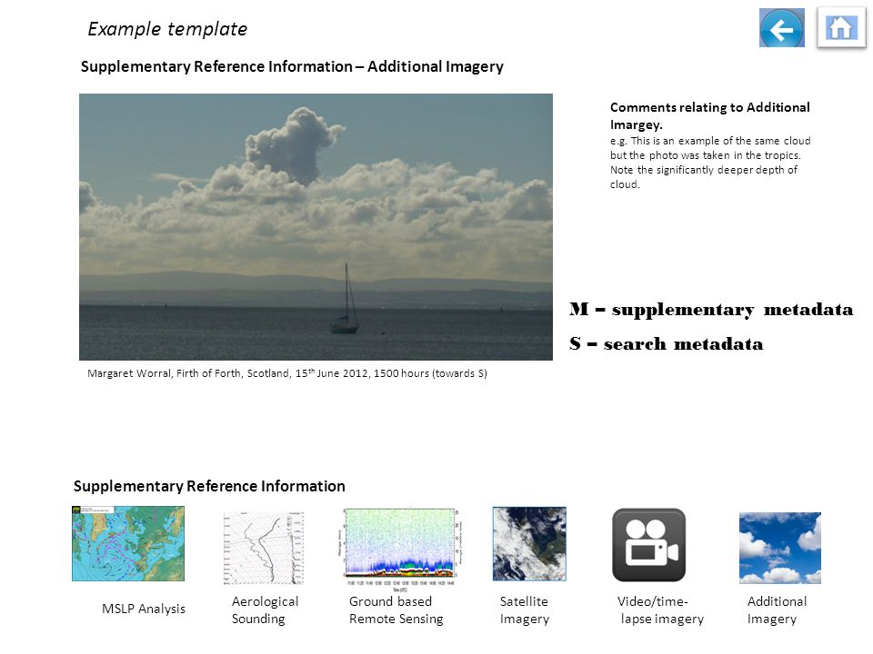Supplementary Reference Information – Additional Imagery Comments relating to Additional Imargey.