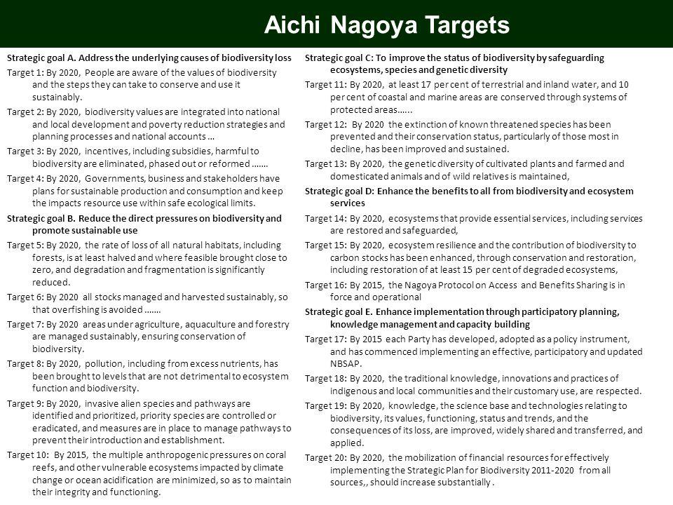 Aichi Nagoya Targets Strategic goal A.