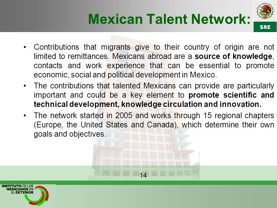 Mexican Talent Network: Contributions that migrants give to their country of origin are not limited to remittances.