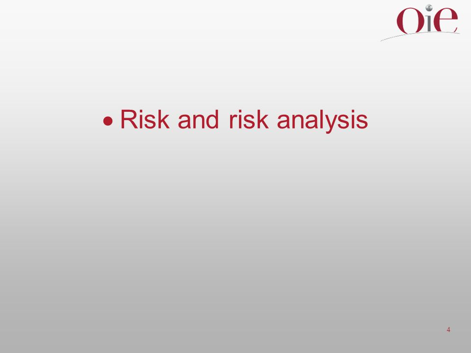 4  Risk and risk analysis