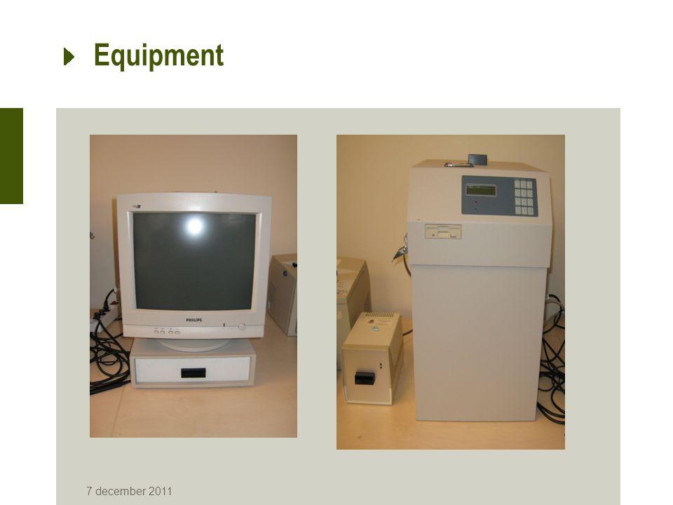 Equipment 7 december 2011