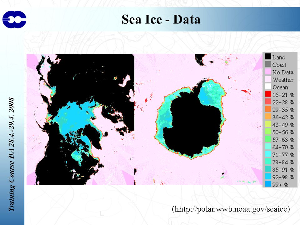 Training Course DA Sea Ice - Data (hhtp://polar.wwb.noaa.gov/seaice)